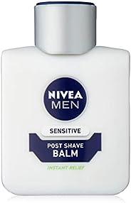 Nivea Men Sensitive Post Shave Balm (100 ml), After Shave Balm for Men with Zero Percent Alcohol, Men's Sk