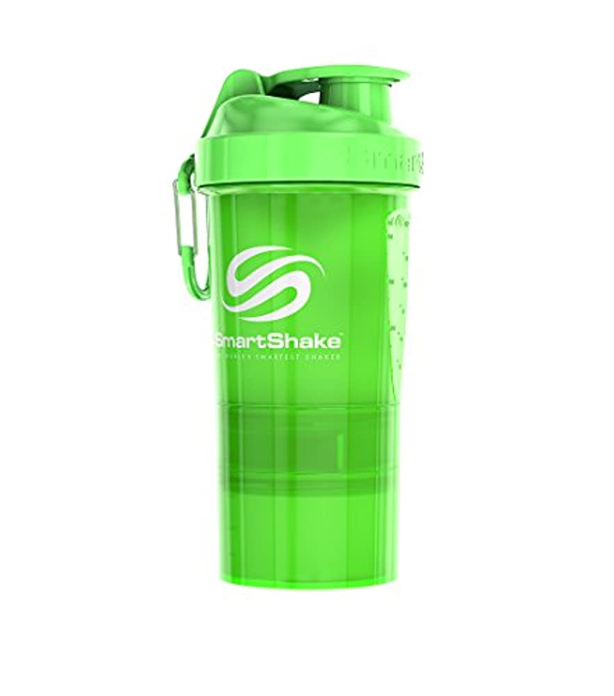 収まる任命遺跡SmartShake(スマートシェイク) プロテインシェイカー SmartShake NEON Green