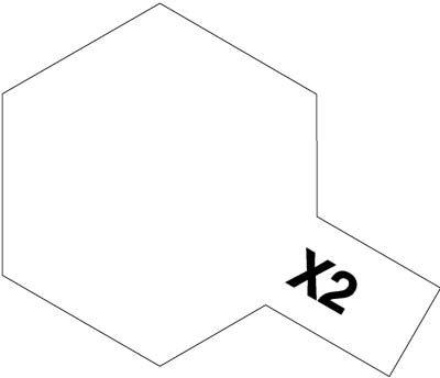 タミヤ エナメル X-2 ホワイト つやのある純白 つやあり(光沢) 80002