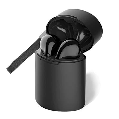 Flying「2019進化型」ワイヤレスイヤホン Bluetooth5.0 高音質 完璧なスポーツ用ワイヤレスヘッドセット IPX5防水 ステレオ 音楽再生 両耳通話 音量調整 ブルートゥース Siri対応 AACコーデック 左右分離マイク内蔵 クリスマスプレゼント【2年保証】(Oval cylinder, Black)