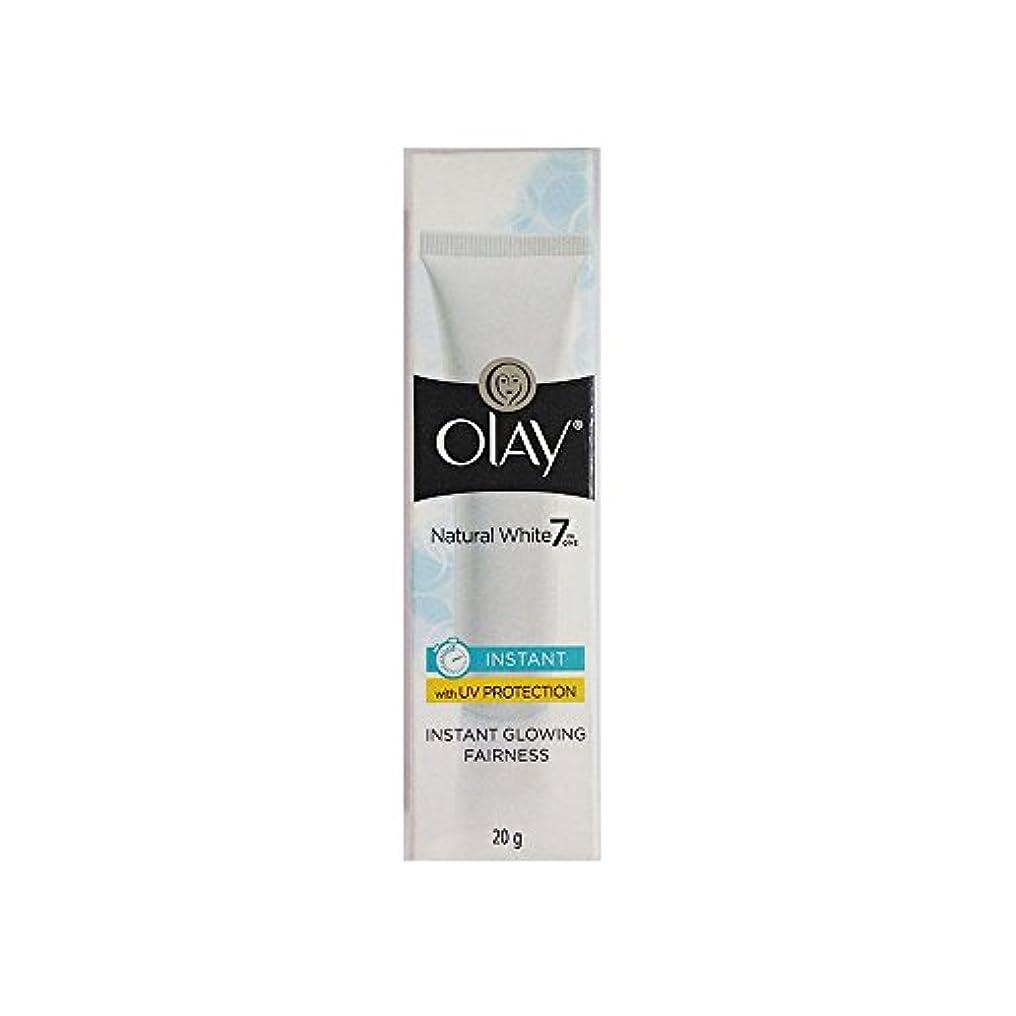 ホイッスルモック煙Olay Natural White Light Instant Glowing Fairness Cream, 20g