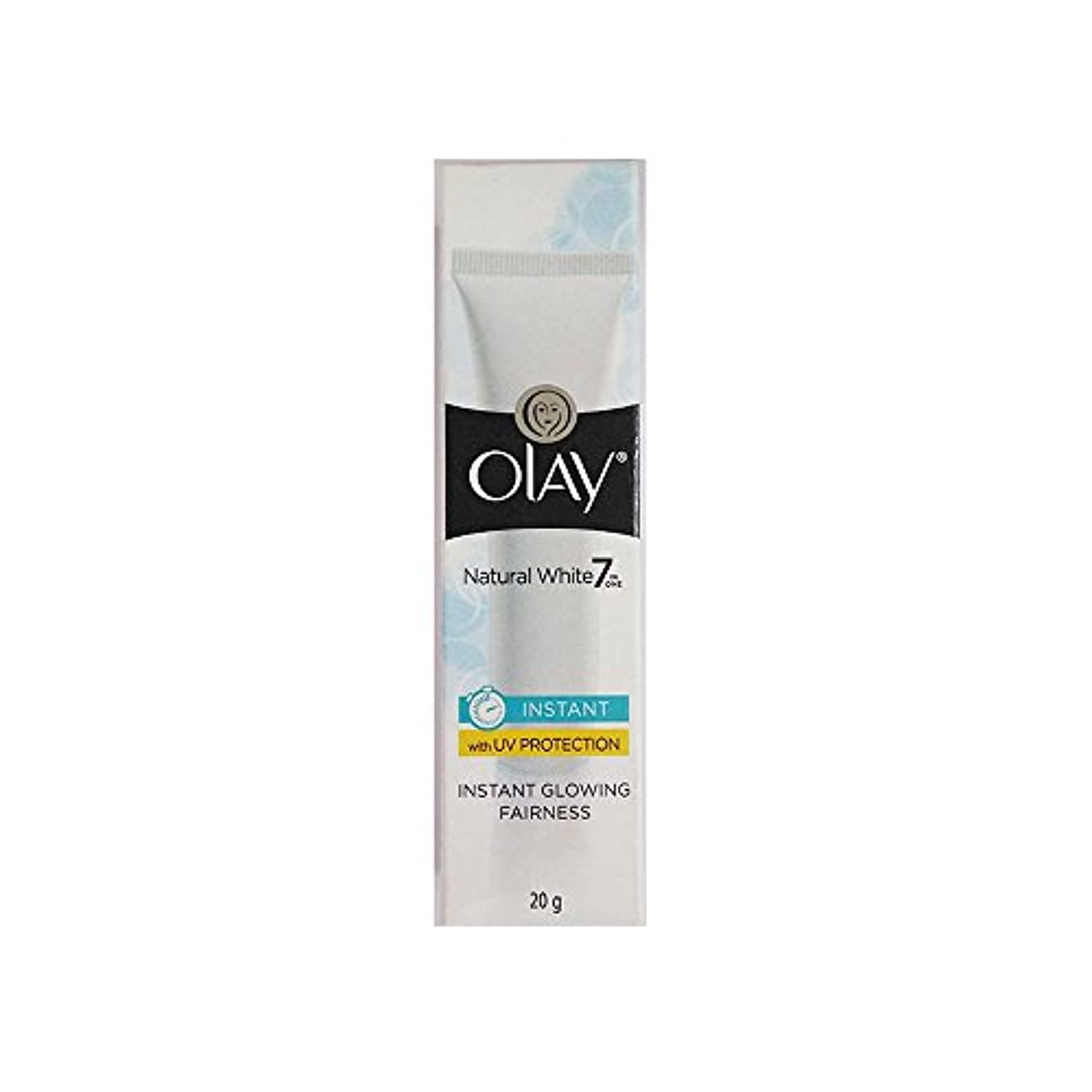メッセンジャー申請者転倒Olay Natural White Light Instant Glowing Fairness Cream, 20g