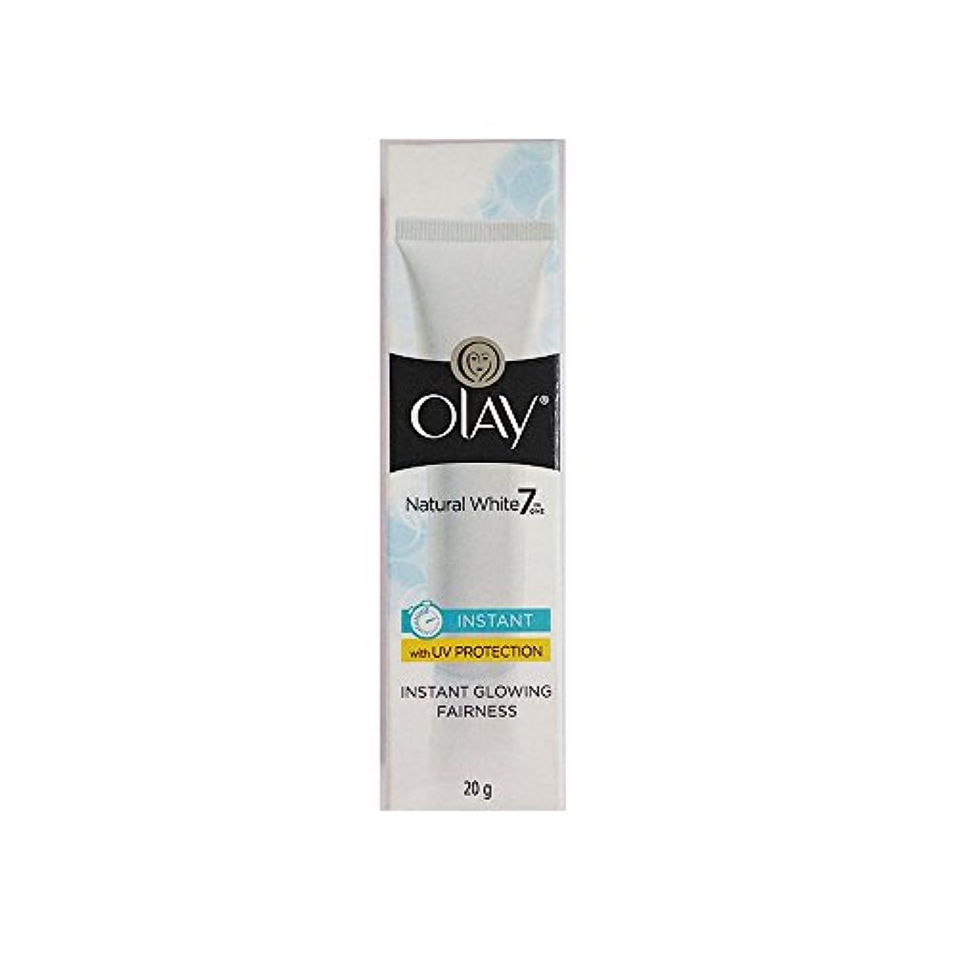 集まる彼女の打撃Olay Natural White Light Instant Glowing Fairness Cream, 20g