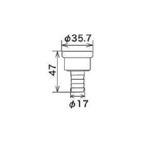 KVK PZ810 カプラー ホースクリップ付 家庭日用品
