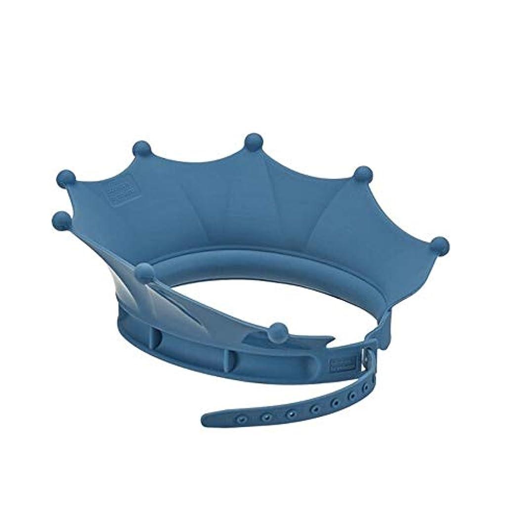 簡潔な頼る外部PFKE キャップ、調節可能なシリコーンシャワーキャップ、シャンプー耳の保護シャワーキャップ、防水シャワーキャップ、ブルーシャワー シンプルで実用的な製品 (Color : Blue)