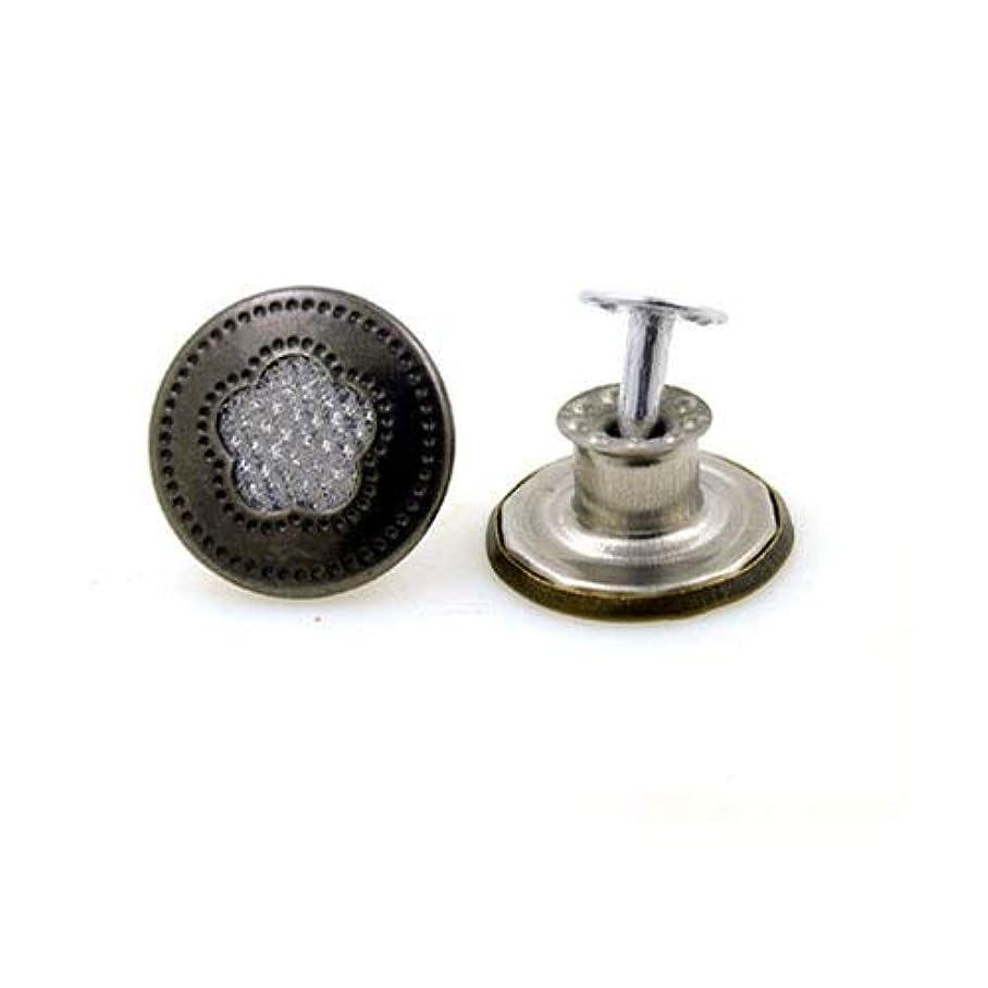 保護十二捨てるJicorzo - 10sets /服accseeories手作り[タイプ1]を縫製衣服のズボンのためにたくさんの17ミリメートルのブロンズファッション金属ジーンズボタンシャンクボタン