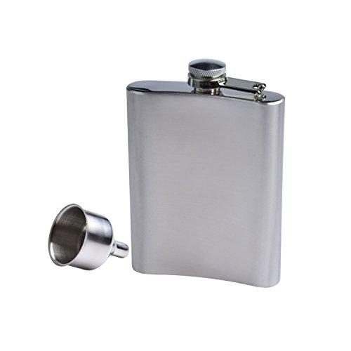 voocye フラスコ スキットル 8オンス 220ml ステンレス製 ウイスキー アルコール 携帯 ボトル