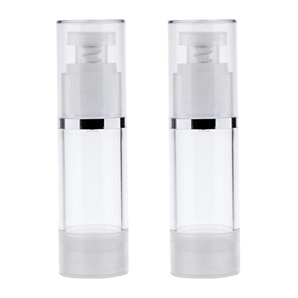 溝報奨金大学院2個 ポンプボトル ポンプチューブ エアレスボトル ディスペンサー コスメ 詰替えボトル 旅行小物 出張 3サイズ選べる - 30ml