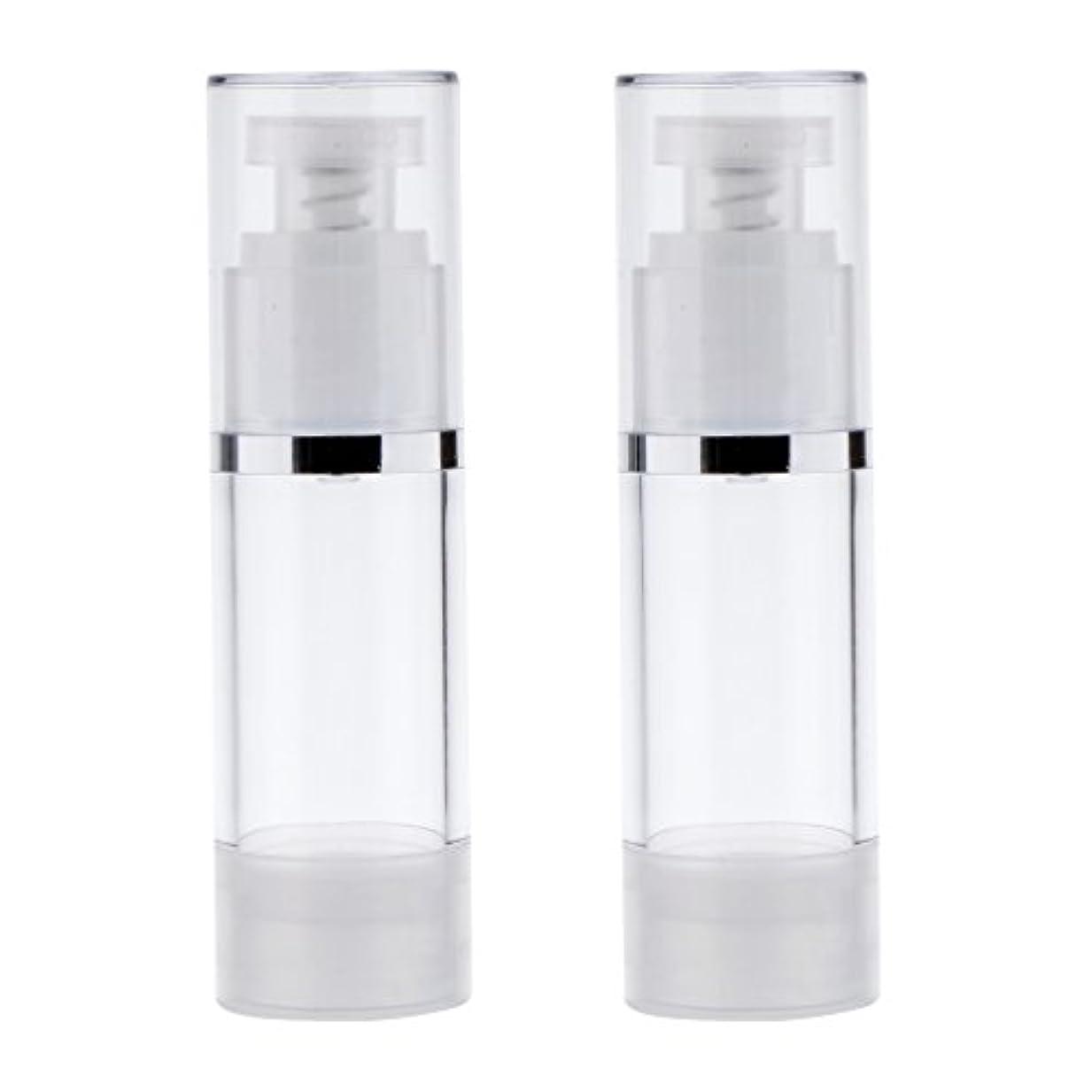 捨てるバリケードバウンス2個 ポンプボトル ポンプチューブ エアレスボトル ディスペンサー コスメ 詰替えボトル 旅行小物 出張 3サイズ選べる - 30ml