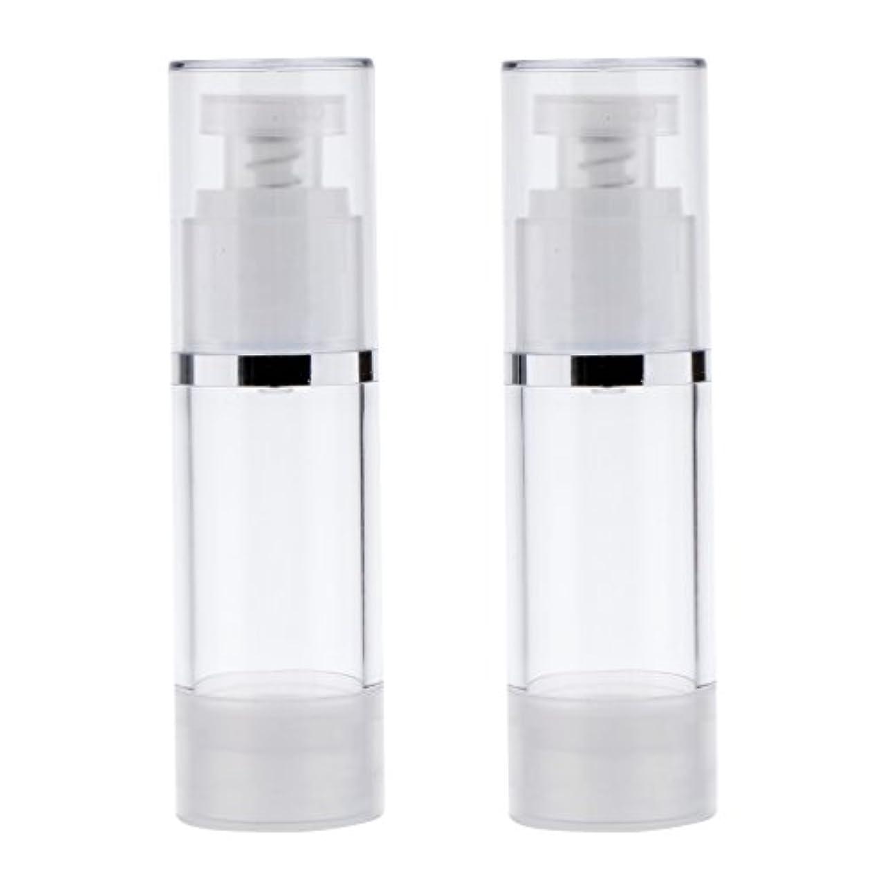 効果的呼ぶ統治可能Perfk 2個 ポンプボトル ポンプチューブ エアレスボトル ディスペンサー コスメ 詰替えボトル 旅行小物 出張 3サイズ選べる - 30ml