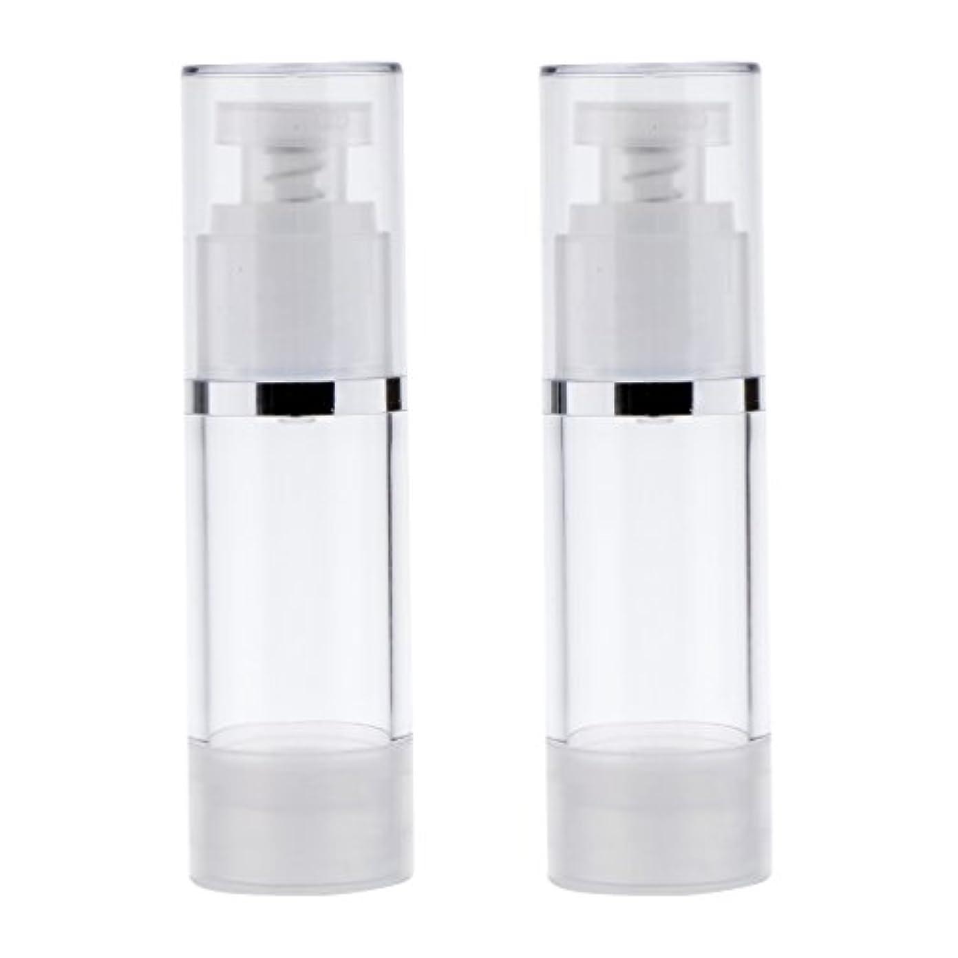姓特殊山岳2個 ポンプボトル ポンプチューブ エアレスボトル ディスペンサー コスメ 詰替えボトル 旅行小物 出張 3サイズ選べる - 30ml