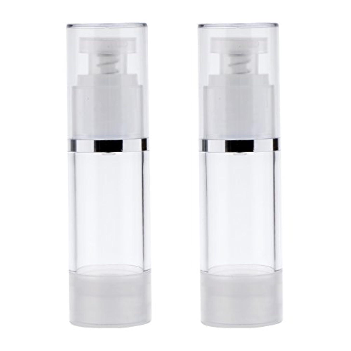 帝国リングウナギ2個 ポンプボトル ポンプチューブ エアレスボトル ディスペンサー コスメ 詰替えボトル 旅行小物 出張 3サイズ選べる - 30ml