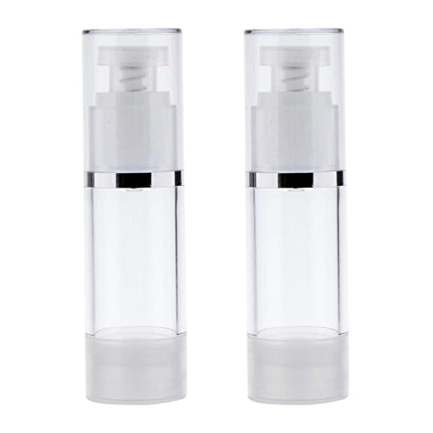 灰大聖堂オッズ2個 ポンプボトル ポンプチューブ エアレスボトル ディスペンサー コスメ 詰替えボトル 旅行小物 出張 3サイズ選べる - 30ml
