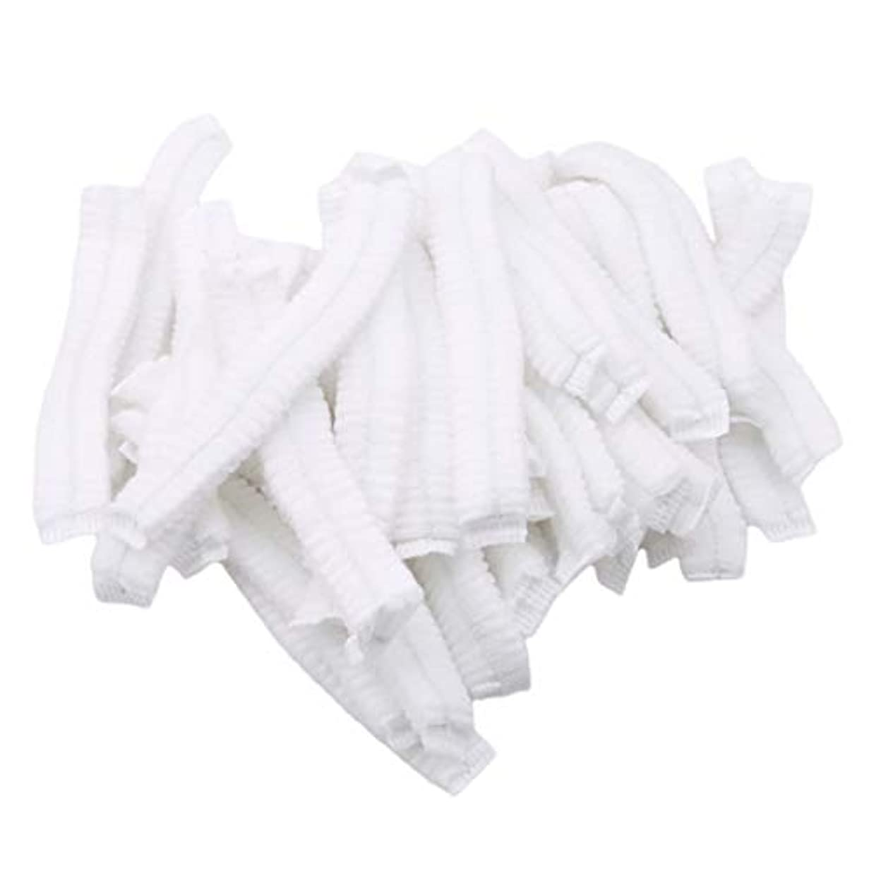 カバーすすり泣き配管GOMYIE 病院サロンスパダイニングとほこりのない作業エリア用の使い捨て不織布ふわふわ帽子ネット100個(白)