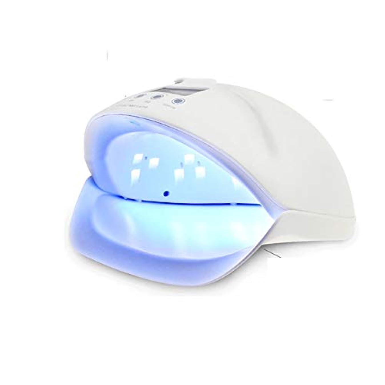 ファン謙虚なみネイルドライヤー - ネイル光線療法ベーキングランプ50ワットUV無痛モードLED赤外線センサーインテリジェントネイルマシン