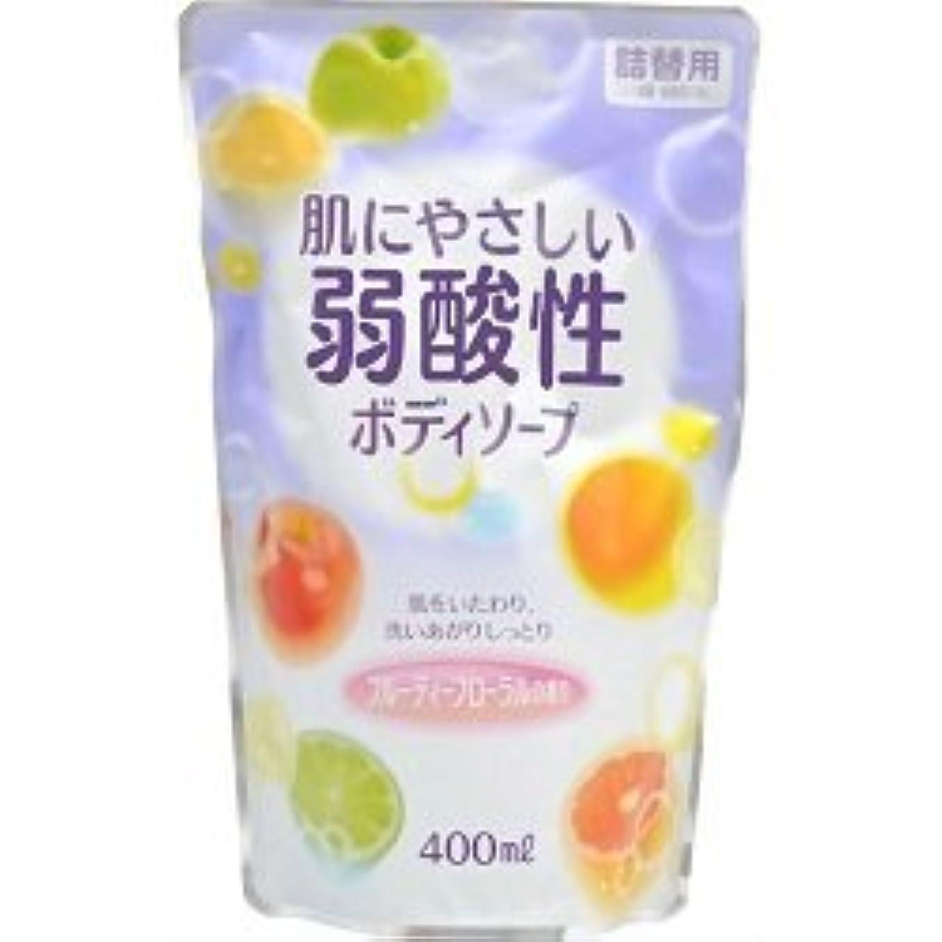 お茶変化するスチール【エオリア】弱酸性ボディソープ フルーティフローラルの香り 詰替用 400ml ×5個セット