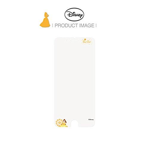Disney ART TEMPERED GLASS ディズニーアート強化ガラス ディズニープリンセスシリーズ(ベル 美女と野獣)/アイフォンiPhoneスマホ保護ガラス、硬度9Hキズスクラッチ防止、0.33mm、2.5Dラウンドソフトエッジ、強化ガラスへ直接キャラクター印刷、フルカラー2880dpi印刷、高鮮明、快適パーフェクトタッチ、飛散防止、指紋防止、水はじきコーティング (iPhone 6/6s)