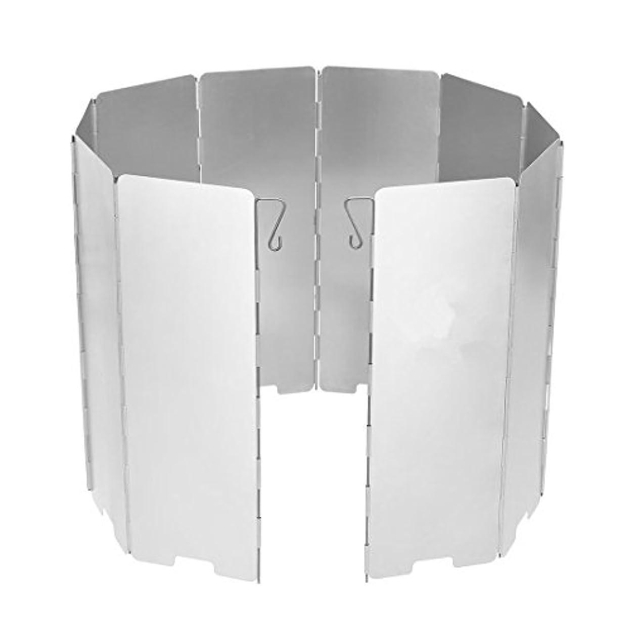飛ぶ影響力のある湿気の多い風除板 防風板 折り畳み式 ウインドスクリーン アウトドア キャンプ コンロ用 アルミ製 軽量 収納袋付き 携帯便利 8枚 9枚 10枚
