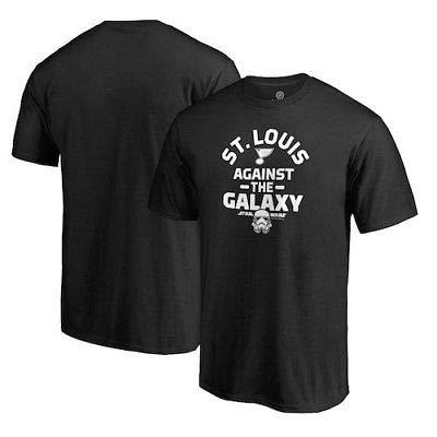 NFL St. Louis Blues Fanatics Branded Star Wars Against the Galaxy T-Shirt - Black Tシャツ(ファングッズ)【並行輸入品】