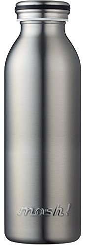 水筒 真空断熱 スクリュー式 マグ ボトル 0.45L シルバ...