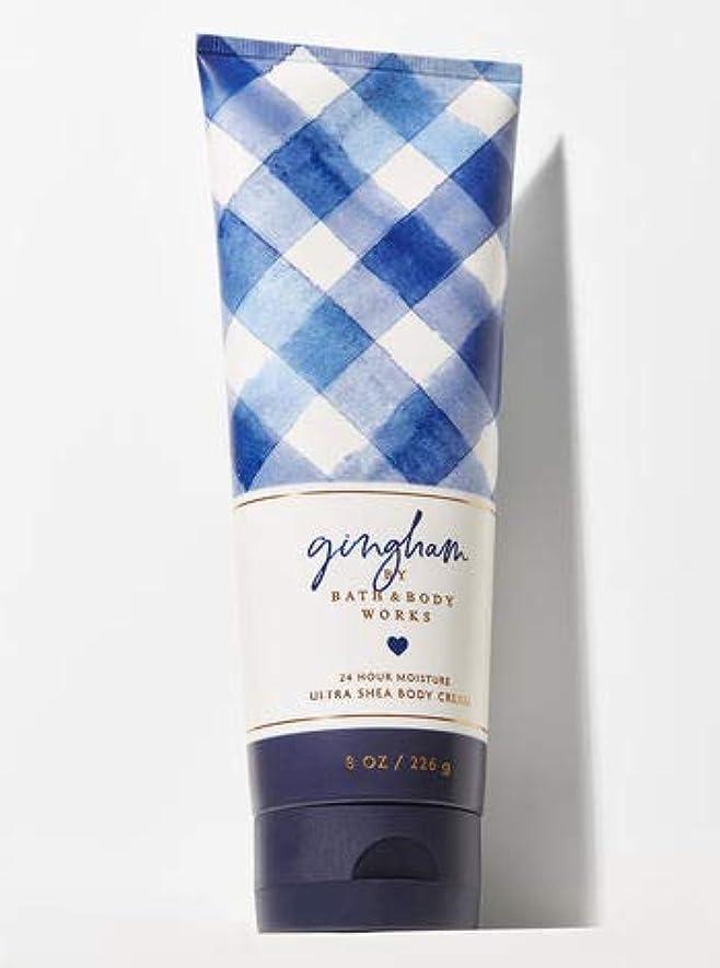 伝記セッティング生産的【Bath&Body Works/バス&ボディワークス】 ボディクリーム ギンガム Ultra Shea Body Cream Gingham 8 oz / 226 g [並行輸入品]