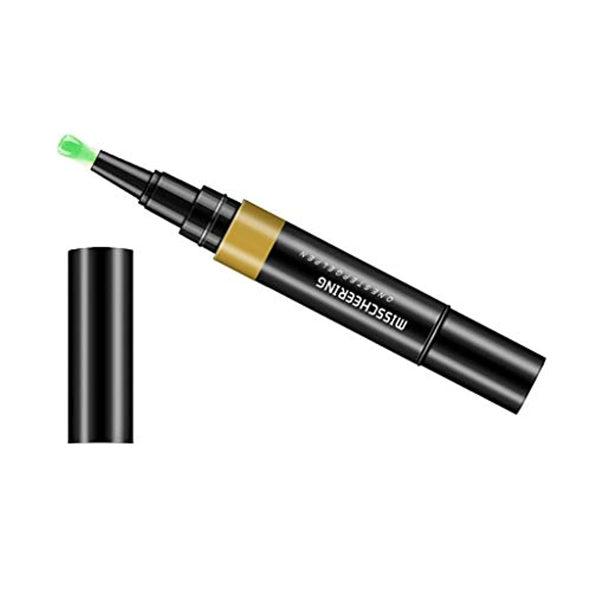 聖域洞察力入口Toygogo ジェル マニキュアペン ワニスラッカー ネイルアートペン 3 イン 1 サロン 初心者 セルフネイル DIY - グリーン
