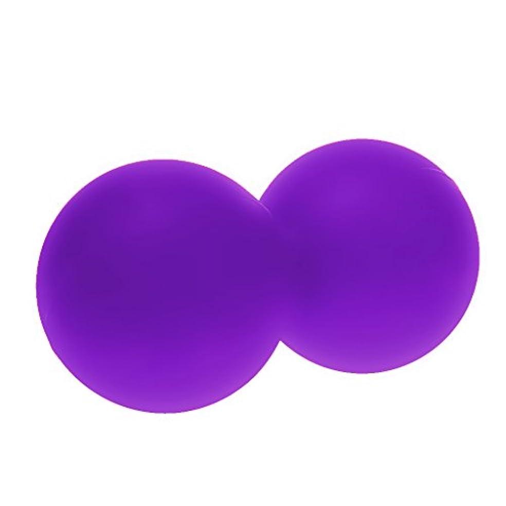 利用可能空中窒素小型 マッサージボール 全身 セルフマッサージツール トリガーポイント シリコーン ソフトボール パープル