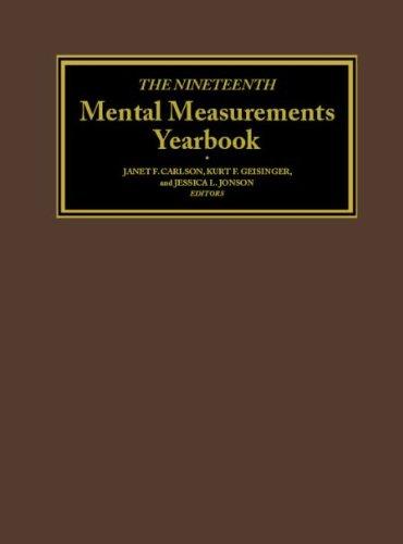 Download The Nineteenth Mental Measurements Yearbook 0910674639