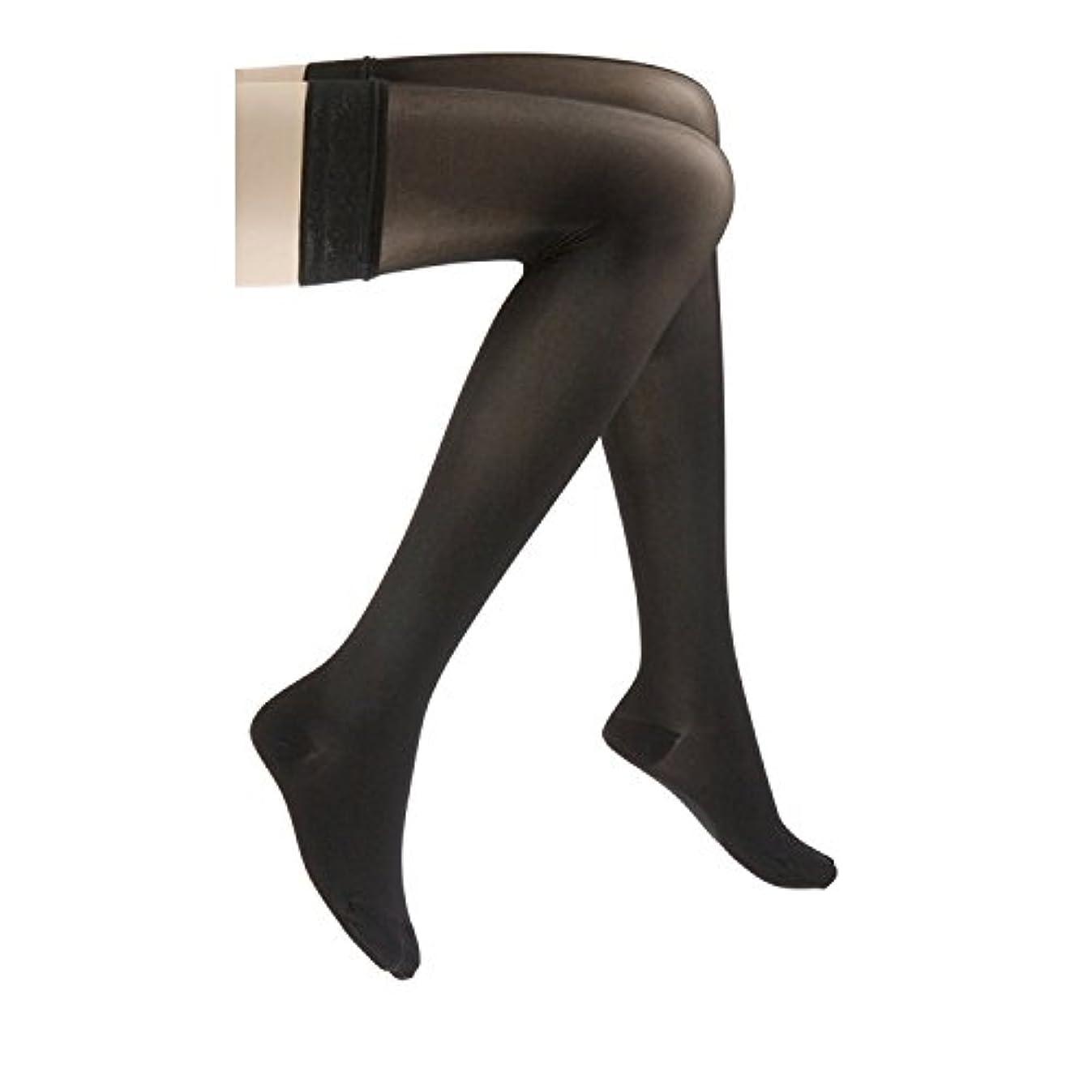 専門用語仕立て屋カプラーJobst 122251 Ultrasheer Thigh Highs 20-30 mmHg Firm with Lace Silicone Top Band - Classic Black Medium