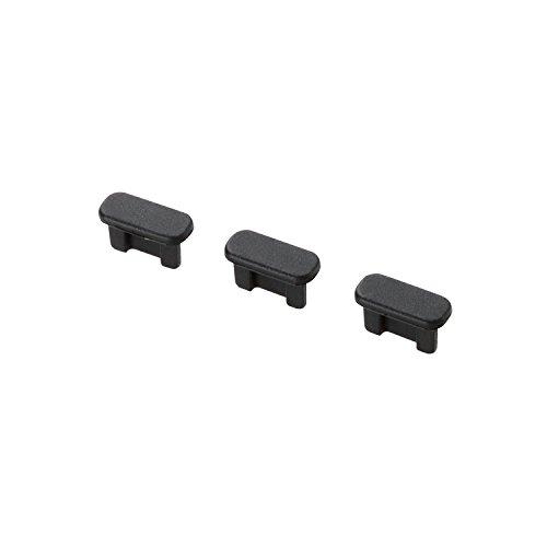 エレコム スマホ用 microBコネクタ用 保護キャップセット 3個セット ブラック P-CAAMBBK