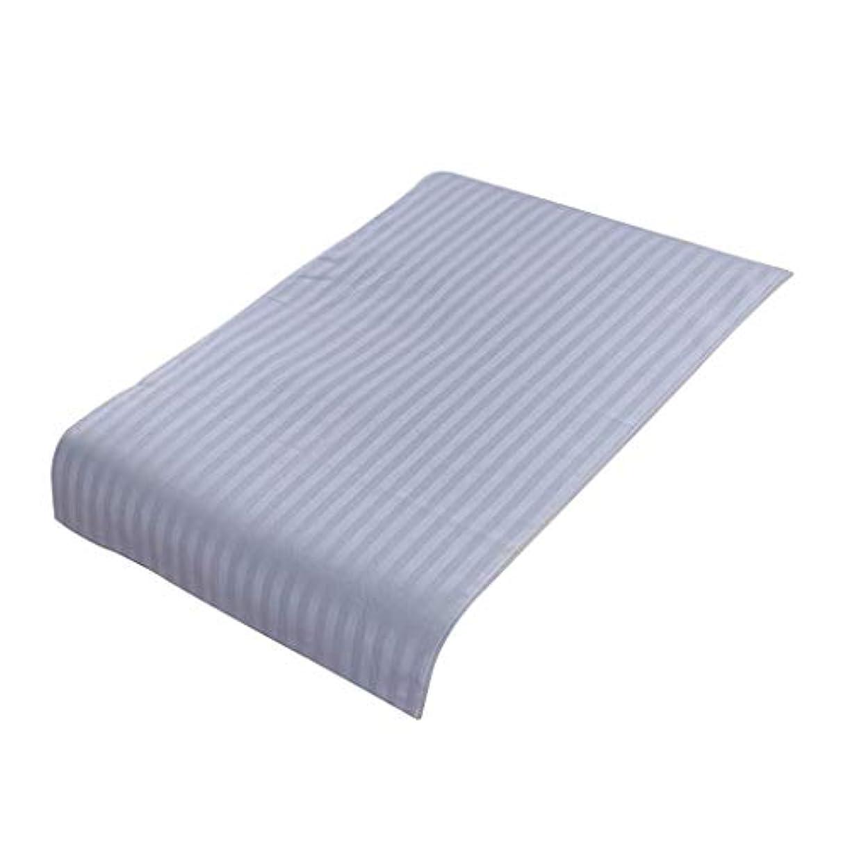 寂しい扱う微視的美容院ベッドカバー 断面 スパ マッサージベッドスカート ピュアコットン 快適 (90×60cm) - ライトブルー