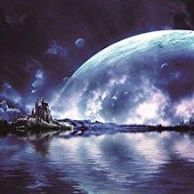 ofila Universe Outer Space Backdrop 5?x 5ft Earth Planet Moon Backdrop自然景色旅行テーマ宇宙飛行士個人写真肖像画ビデオスタジオ撮影小道具