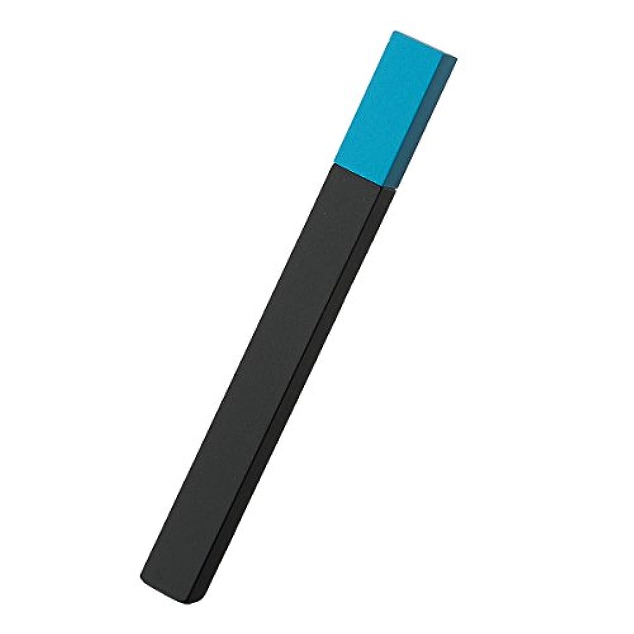 摩擦伝染性ハーフ[坪田パール] QUEUE (クー) オイルライター ツートン ブラック×ターコイズ 日本製 2-26069-07 喫煙具