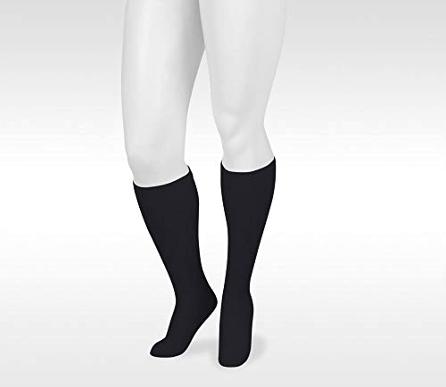 ゴージャス虫を数える自伝Juzo 4701AD10 II Basic Casual 20-30 mmHg Closed Toe Knee High - Black by Juzo