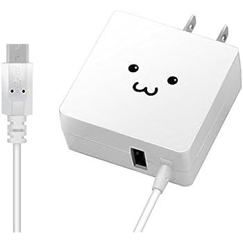 エレコム 充電器 ACアダプター 【Android & IQOS & glo 対応】折畳式プラグ マイクロUSBケーブル 1.5m USBポート×1 (2A出力) 急速充電 ホワイトフェイス MPA-ACMCC154WF
