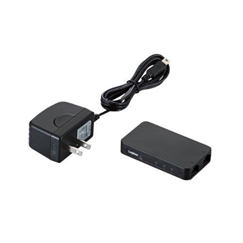 ロジテック スイッチングハブ 3ポート 10/100Mbps AC電源 小型 LAN-SW03PSBE