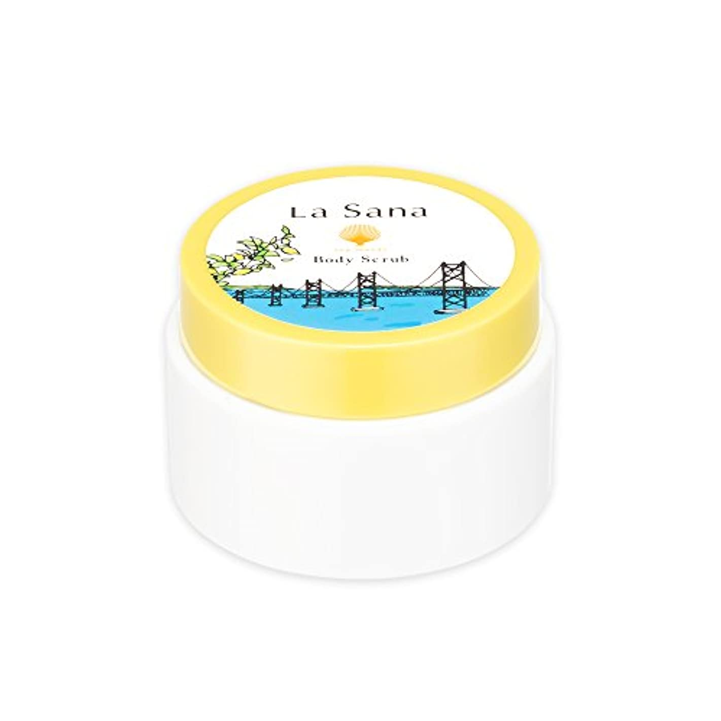 足枷進捗ナインへラサーナ La sana 海藻 ボディ スクラブ 100g 限定 瀬戸内レモンの香り ボディケア 日本製 (約1ヵ月分)