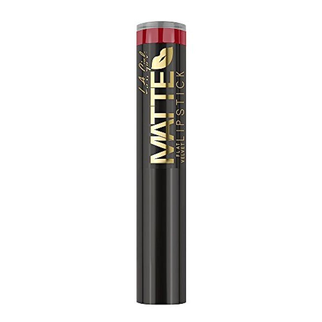 日ホイップ雨の(3 Pack) L.A. GIRL Matte Flat Velvet Lipstick Relentless (並行輸入品)