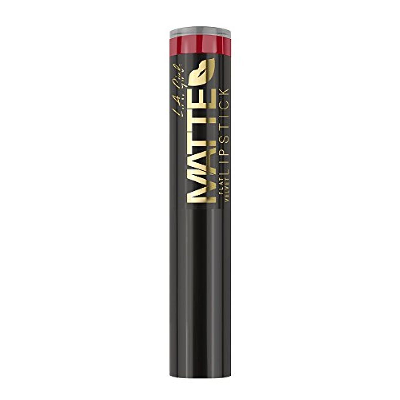 骨折申請者ジャニス(3 Pack) L.A. GIRL Matte Flat Velvet Lipstick Relentless (並行輸入品)