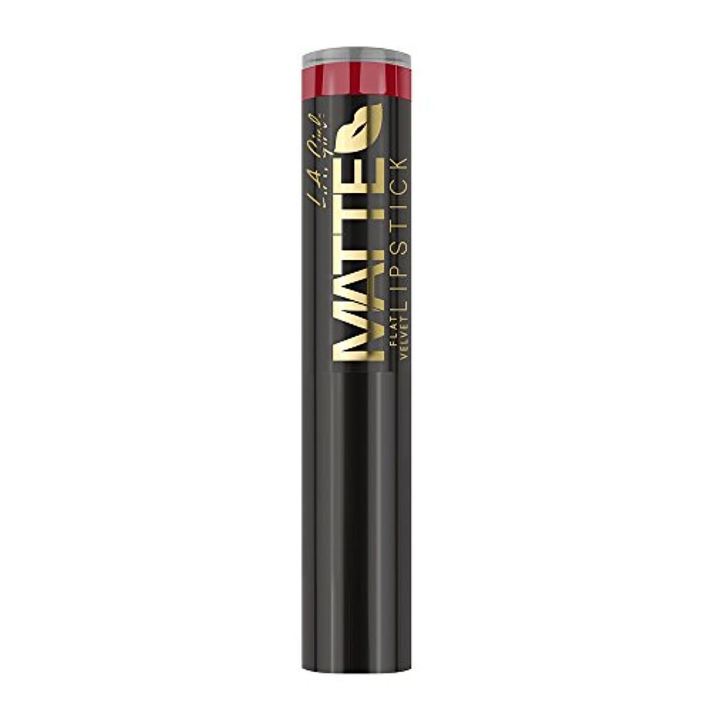 トランジスタ最愛の今(3 Pack) L.A. GIRL Matte Flat Velvet Lipstick Relentless (並行輸入品)