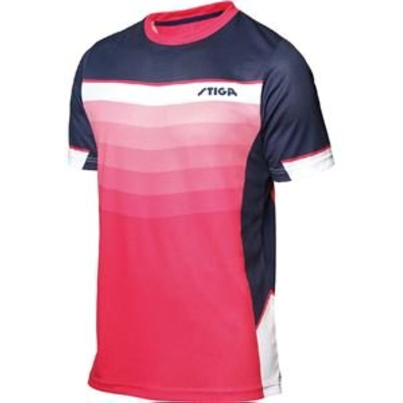 STIGA(スティガ) 卓球ユニフォーム RIVER SHIRT リバーシャツ ピンク 3XL