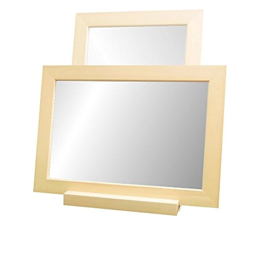 共和党余裕があるメイドNaturalHouse 卓上 ミラー 鏡 部分 縦 横 置き 設置 可 木製 MC 2535 NA ナチュラル