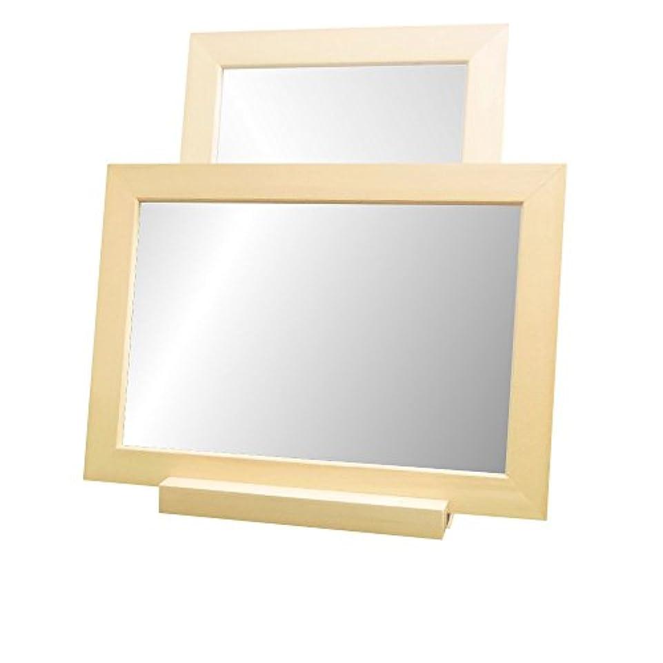 不透明な病気だと思う野心的NaturalHouse 卓上 ミラー 鏡 部分 縦 横 置き 設置 可 木製 MC 2535 NA ナチュラル