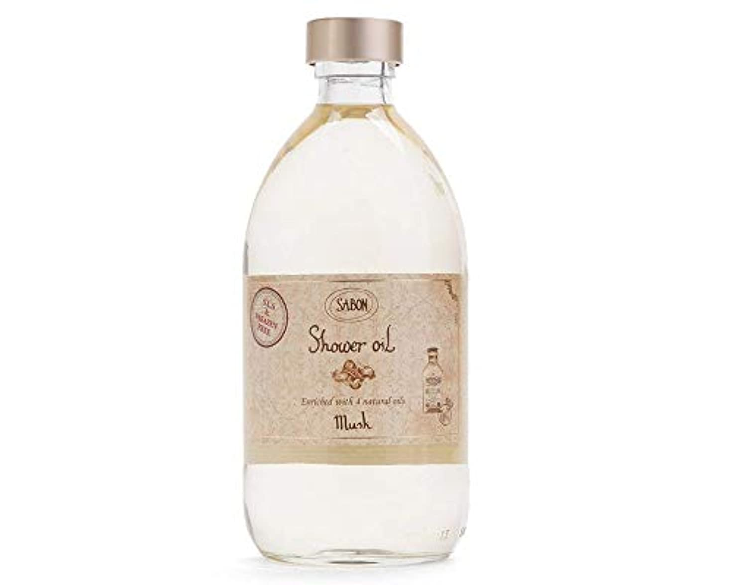 亜熱帯削除する貫通するサボン SABON シャワーオイル ムスク 500ml ボディケア 保湿 潤い (香水/コスメ)