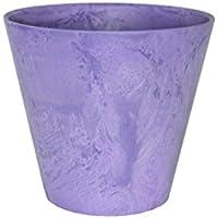 アートストーン ラウンド 17cm グレープ /底面給水型植木鉢(底栓付)