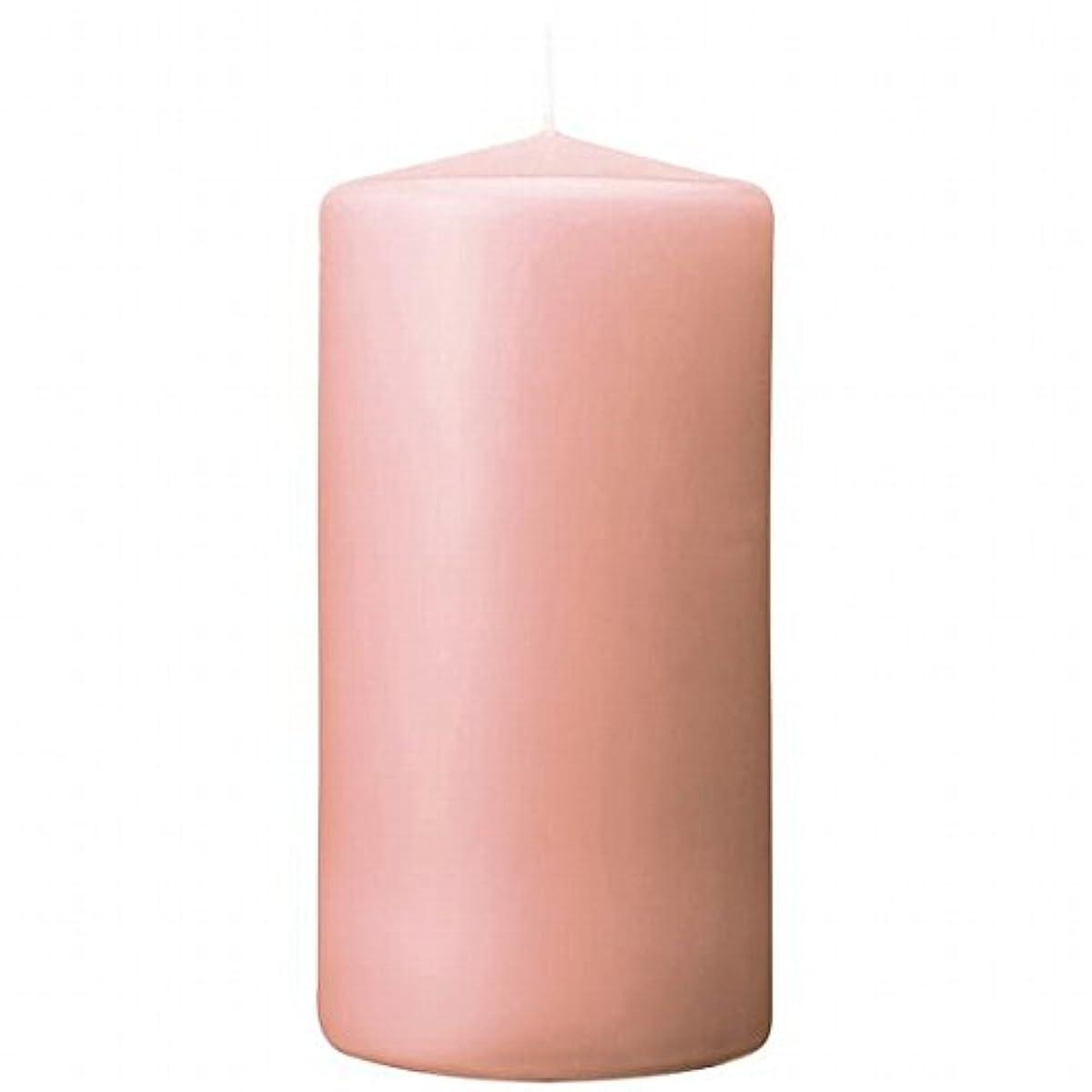保全ファイバ重力カメヤマキャンドル(kameyama candle) 3×6ベルトップピラーキャンドル 「 ピーチアンバ 」