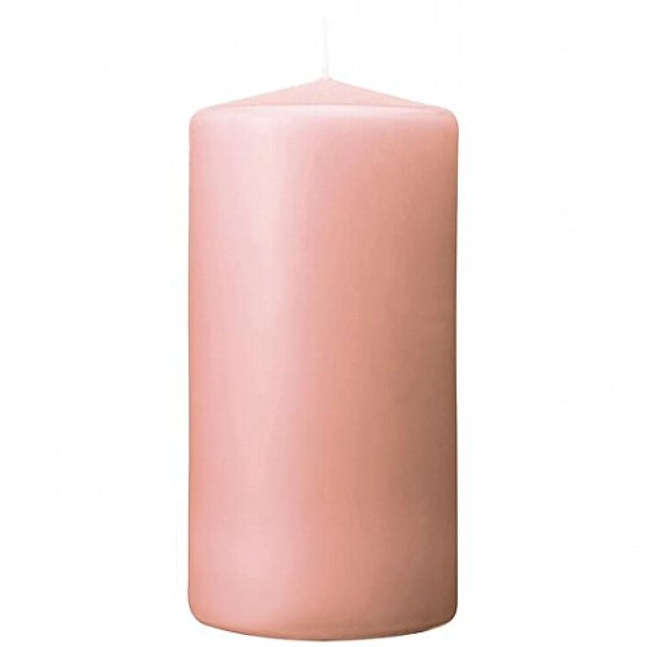 内側ビヨンまあカメヤマキャンドル(kameyama candle) 3×6ベルトップピラーキャンドル 「 ピーチアンバ 」