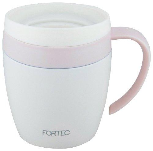 和平フレイズ マグカップ 280ml ピンク 蓋付き 保温 保冷 オフィスマグ フォルテックハウス RH-1287