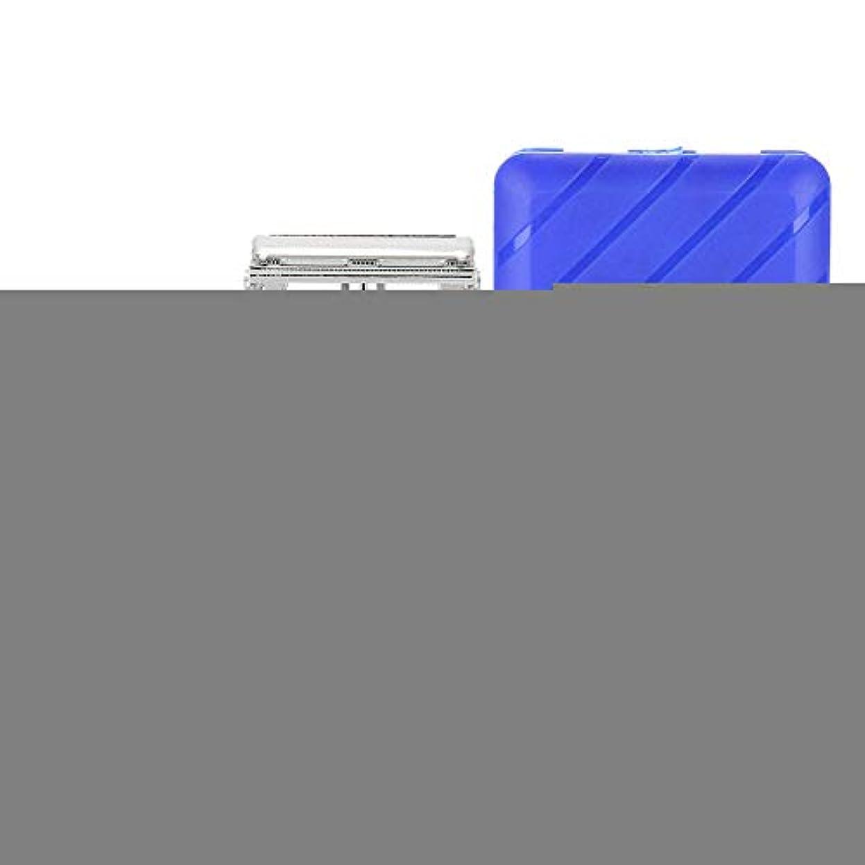 命令比べる間接的Semmeひげシェーピングツール、男性シェーバーセット手動メンズシェーバークラシックストレートダブルエッジブレードひげシェーバー付きケース