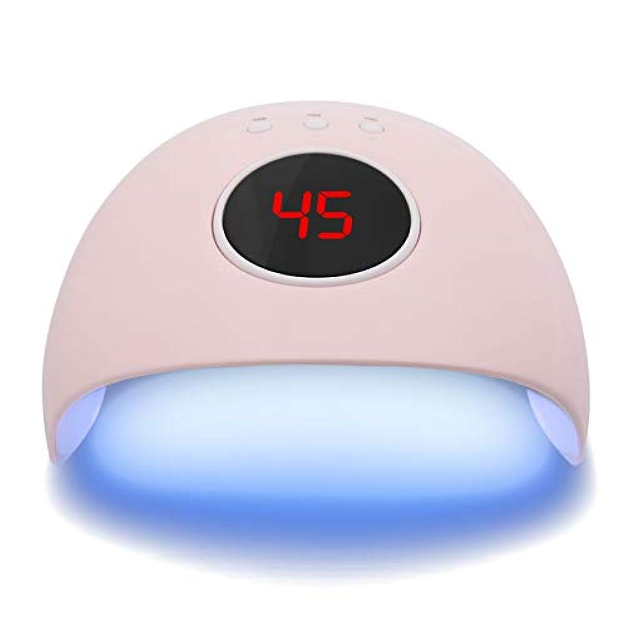 集中的な簡略化する口径24ワット液晶ディスプレイ 硬化ライト uvネイルドライヤーデュアル光源ジェルポリッシュランプライト硬化マニキュア機